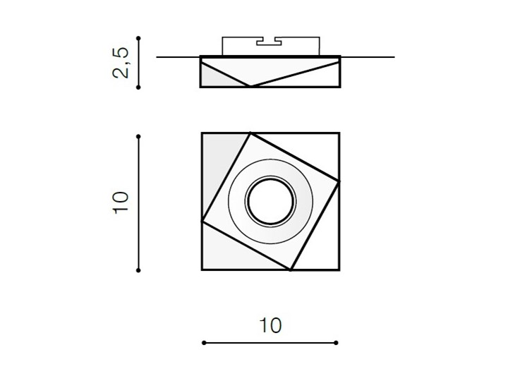 LORENZO Kwadratowe Oprawa stropowa Oprawa wpuszczana Kategoria Oprawy oświetleniowe