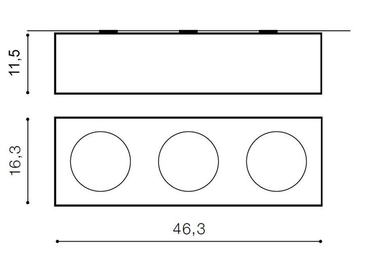 Paulo 3 230V Kategoria Oprawy oświetleniowe Oprawa led Oprawa stropowa Prostokątne Kolor Czarny