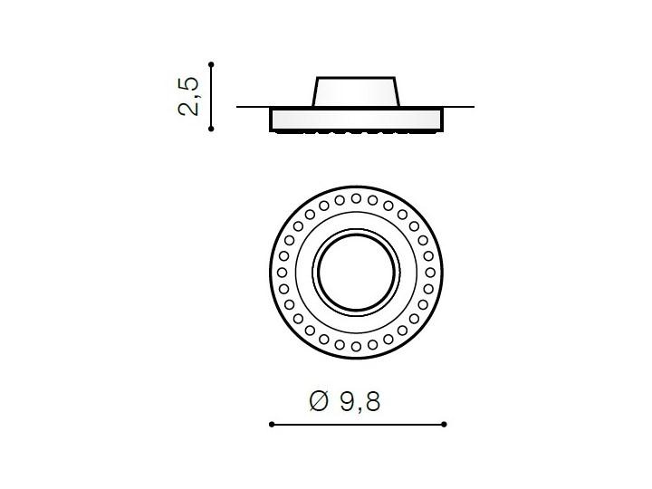 SIMON R Oprawa stropowa Oprawa wpuszczana Okrągłe Kategoria Oprawy oświetleniowe