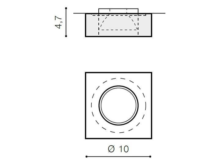 VEKTOR S Oprawa stropowa Kwadratowe Oprawa led Kategoria Oprawy oświetleniowe