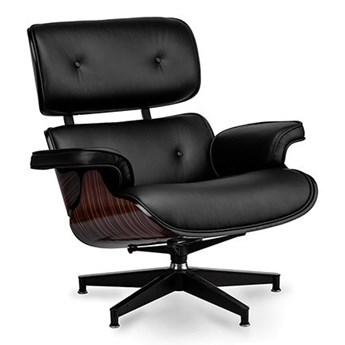 Fotel Tokyo czarna skóra/ebony