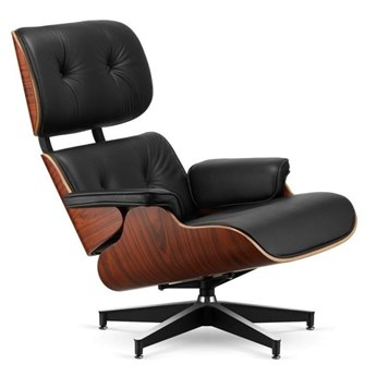 Fotel Tokyo czarna skóra/ wiśnia