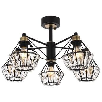 Nowoczesna czarna industrialna lampa sufitowa loft  avonni AR-1735-5BSY  salon sypialnia jadalnia kuchnia