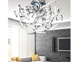 Srebrny plafon ledowy lampa led ozcan 5640-1 chrom salon kuchnia łazienka mocne światło