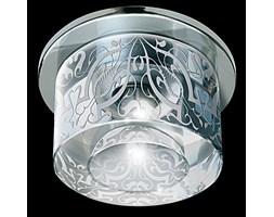 Srebrna lampa sufitowa 1655cr kryształowe oczko gumarcris oprawa podtynkowa salon hol łazienka hotel
