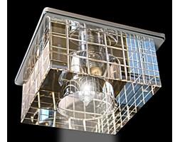 Srebrna lampa sufitowa 2050cr kryształowe oczko gumarcris oprawa podtynkowa salon hol łazienka hotel