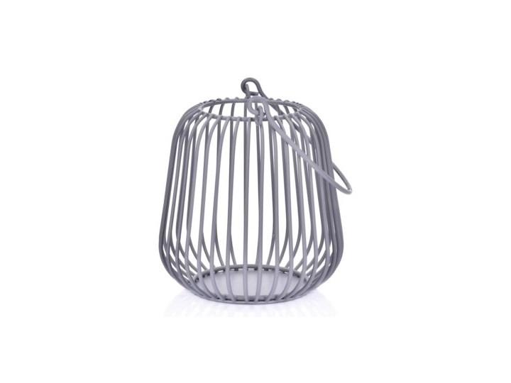 Lampion DUKA FAGLARE 10 cm szary metal