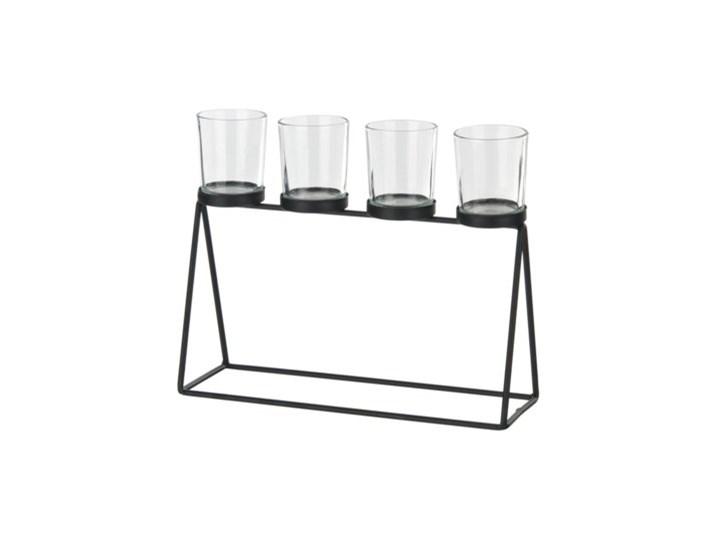 Świecznik na tealighty DUKA MODERN SCANDI 27x22 cm czarny metal