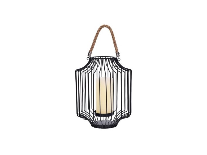 Lampion DUKA FAGLARE 22.5x28 cm czarny metal