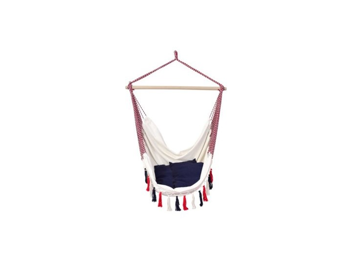 Krzesło wiszące brazylijskie fotel DUKA SOMMARFEST 150x70 cm białe Krzesło brazylijskie Hamak bez stelaża Kolor Brązowy