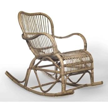 Fotel rattanowy bujany MARSEILLE naturalny