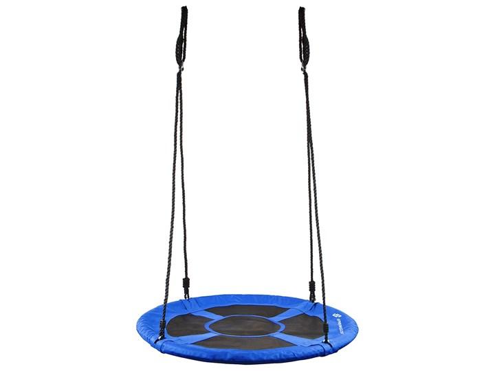 Huśtawka ogrodowa dla dzieci bocianie gniazdo 120 cm niebieska Tworzywo sztuczne Kategoria Huśtawki dla dzieci