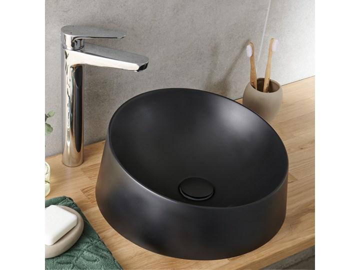 Umywalka nablatowa konglomeratowa GoodHome Allos Asymetryczne Okrągłe Nablatowe Kategoria Umywalki