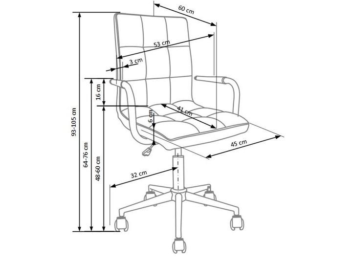 pikowany fotel dla ucznia amber 2x - czarny
