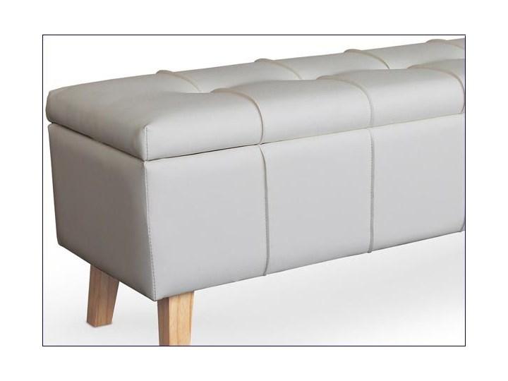 Ławka z pojemnikiem Adras - biała Pikowana Tradycyjna Kategoria Ławki do salonu