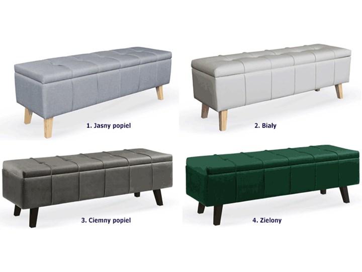 Pikowana ławka z pojemnikiem Adras - zielona Kategoria Ławki do salonu Kolor Zielony