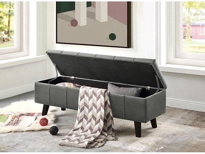 Pikowana ławka z pojemnikiem Adras - zielona Styl Nowoczesny