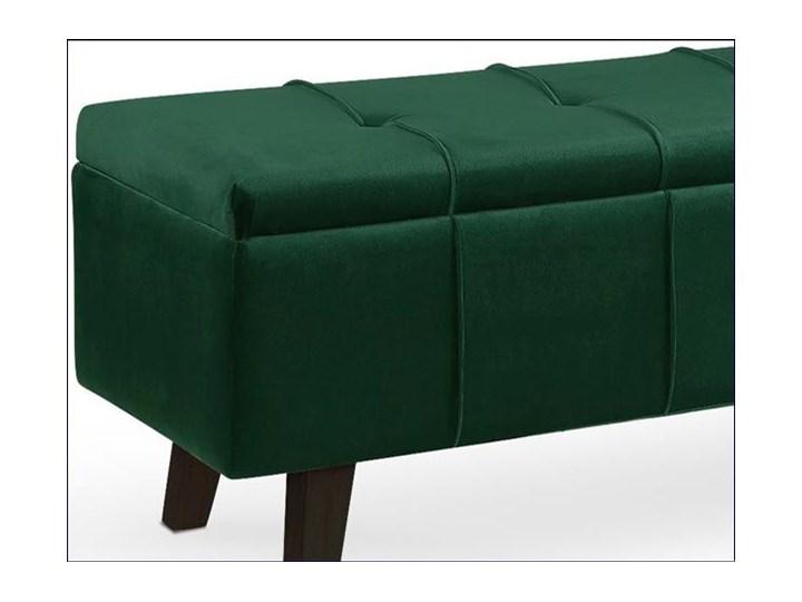 Pikowana ławka z pojemnikiem Adras - zielona Styl Skandynawski Styl Nowoczesny
