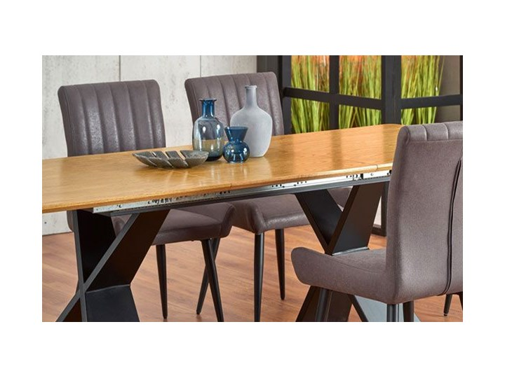 Loftowy stół rozkładany Eden - dąb naturalny Szerokość 90 cm Drewno Wysokość 75 cm Długość 90 cm  Długość 220 cm Kategoria Stoły kuchenne