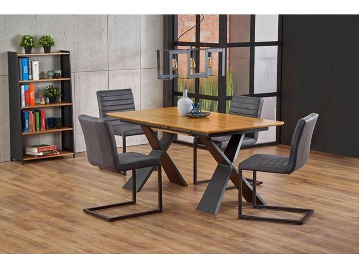 Loftowy stół rozkładany Eden - dąb naturalny Drewno Szerokość 90 cm Wysokość 75 cm Kolor Czarny Długość 90 cm  Długość 220 cm Rozkładanie