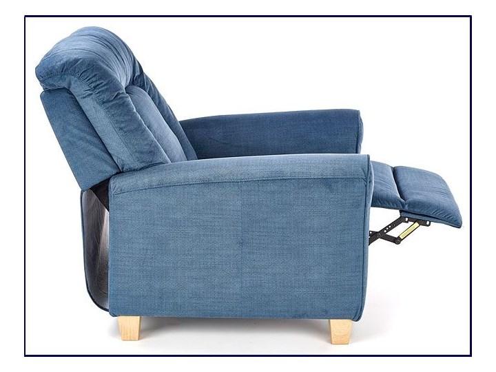 Rozkładany fotel wypoczynkowy Ervin - popielaty Tkanina Szerokość 90 cm Fotel rozkładany Kategoria Fotele do salonu