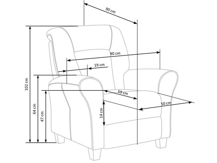 Rozkładany fotel wypoczynkowy Ervin - popielaty Fotel rozkładany Szerokość 90 cm Tkanina Kategoria Fotele do salonu Styl Nowoczesny