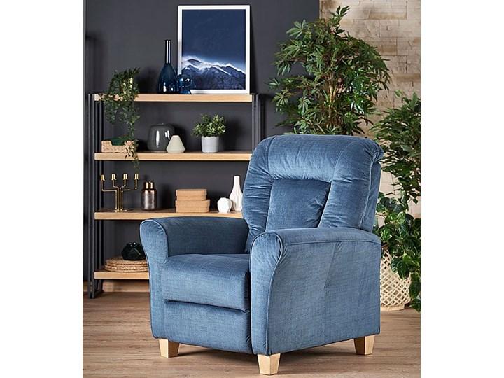 Rozkładany fotel wypoczynkowy Ervin - popielaty Fotel rozkładany Tkanina Szerokość 90 cm Kolor Szary