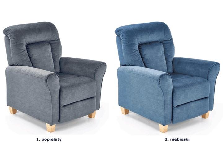 Rozkładany fotel wypoczynkowy Ervin - popielaty Fotel rozkładany Tkanina Szerokość 90 cm Styl Nowoczesny Kolor Szary