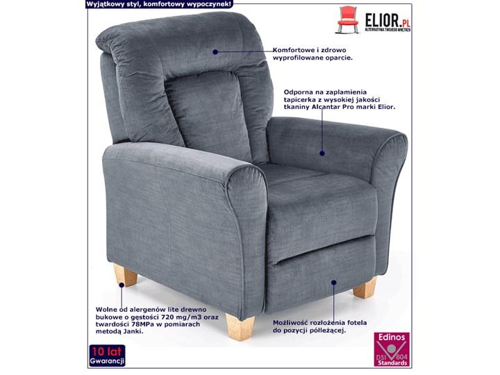 Rozkładany fotel wypoczynkowy Ervin - popielaty Kategoria Fotele do salonu Tkanina Fotel rozkładany Szerokość 90 cm Styl Rustykalny