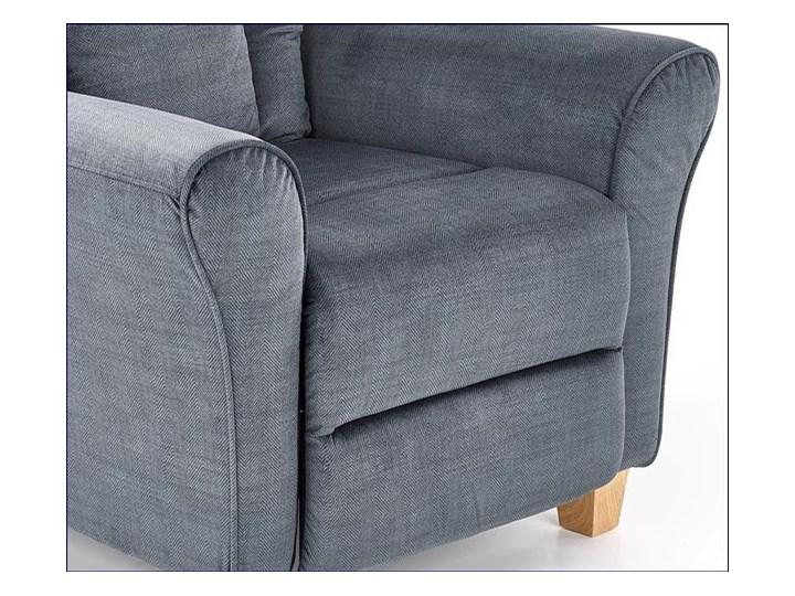 Rozkładany fotel wypoczynkowy Ervin - popielaty Tkanina Szerokość 90 cm Fotel rozkładany Kolor Szary
