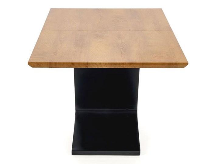 Nowoczesny rozkładany stół Azira - dąb Długość 220 cm Kategoria Stoły kuchenne Drewno Szerokość 90 cm Wysokość 75 cm Długość 90 cm  Rozkładanie Rozkładane