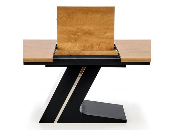Nowoczesny rozkładany stół Azira - dąb Drewno Wysokość 75 cm Długość 220 cm Długość 90 cm  Szerokość 90 cm Średnica