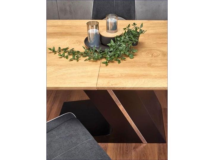 Nowoczesny rozkładany stół Azira - dąb Wysokość 75 cm Szerokość 90 cm Drewno Długość 90 cm  Długość 220 cm Średnica Kolor Brązowy