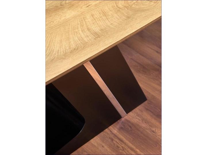 Nowoczesny rozkładany stół Azira - dąb Drewno Długość 220 cm Wysokość 75 cm Długość 90 cm  Szerokość 90 cm Rozkładanie Rozkładane