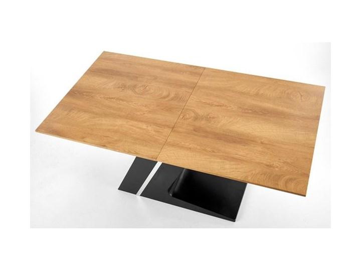 Nowoczesny rozkładany stół Azira - dąb Drewno Wysokość 75 cm Długość 90 cm  Kształt blatu Prostokątny Długość 220 cm Szerokość 90 cm Rozkładanie Rozkładane