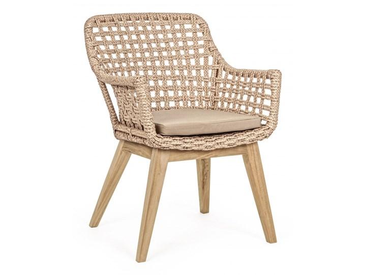 MADISON KRZESŁO NA TARAS W KOLORZE BEŻOWYM Tworzywo sztuczne Metal Krzesło z podłokietnikami Drewno Aluminium Kategoria Krzesła ogrodowe