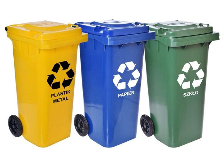 Komplet pojemników na odpady - 120l - trzy kolory Kosze Pojemniki Pojemność 120 l
