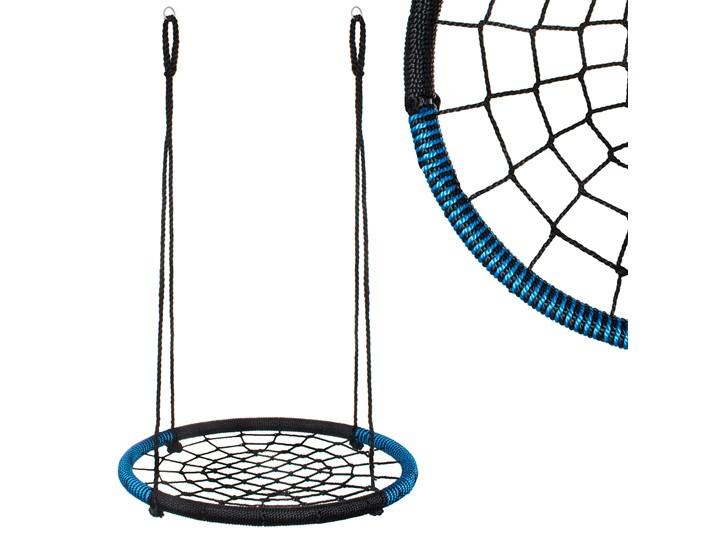 Bocianie gniazdo o średnicy 100 cm czarno niebieskie Tworzywo sztuczne Kategoria Huśtawki dla dzieci