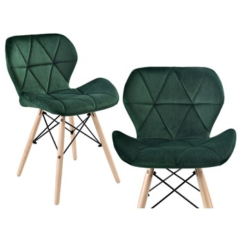 Krzesło aksamitne K-MURET VELVET DSW ciemnozielone