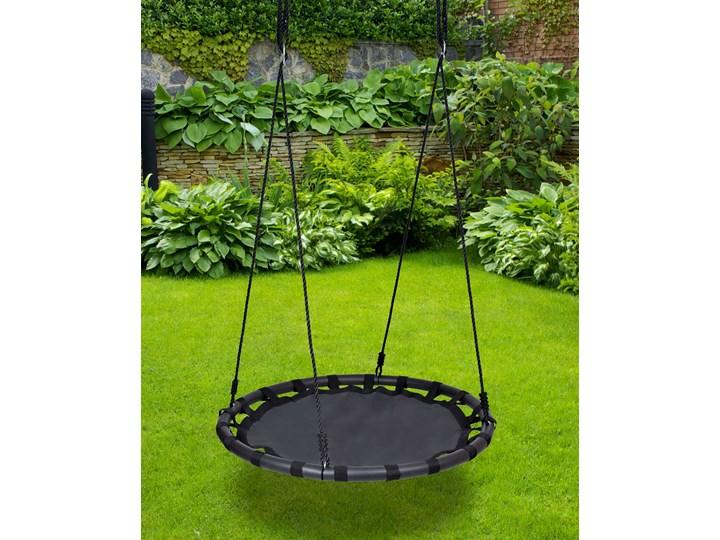 Huśtawka ogrodowa bocianie gniazdo MIKI czarna Metal Pianka Kategoria Huśtawki dla dzieci