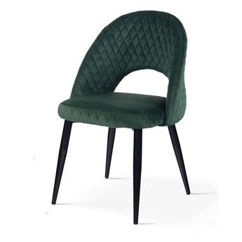 Krzesło UMBERTO ciemnozielony/ noga czarna