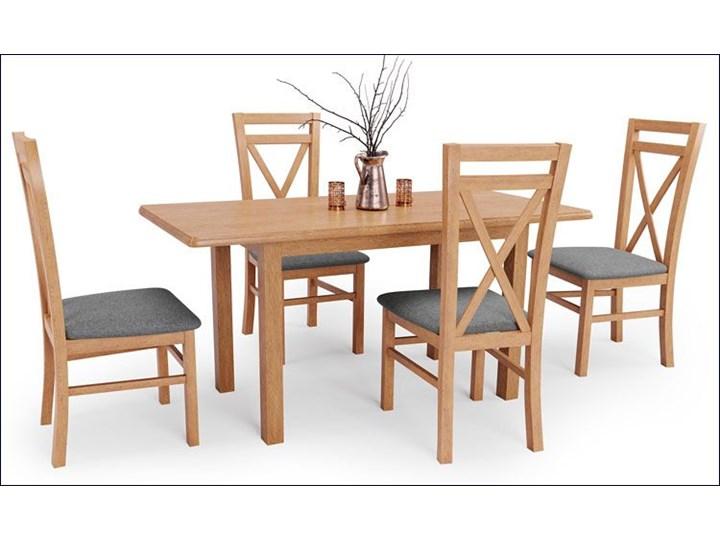 Stół rozkładany Rafael - dąb kraft Drewno Wysokość 74 cm Szerokość 68 cm Styl Klasyczny Długość 158 cm  Kategoria Stoły kuchenne
