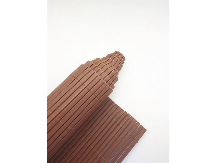 Płotek ogrodowy PCV brązowy 120x300cm