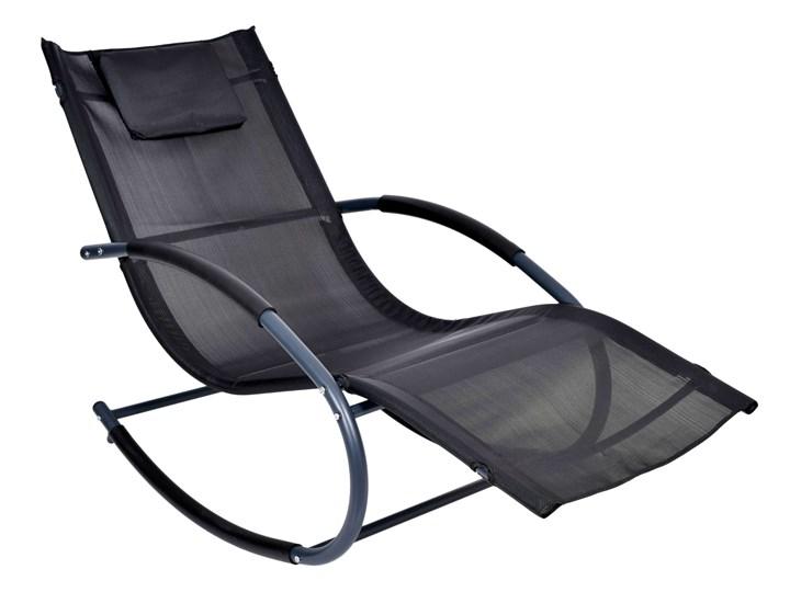 Leżak fotel ogrodowy bujany Syriusz Czarny