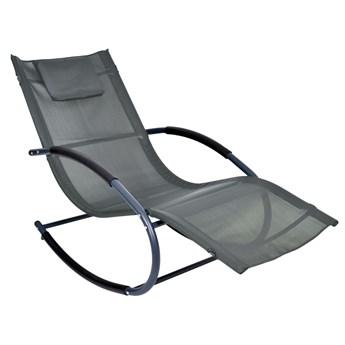 Leżak fotel ogrodowy bujany Syriusz Szary