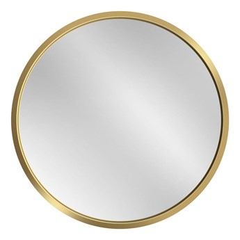 Lustro Scandi – okrągłe w złotej ramie