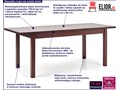 Stół rozkładany Aster - ciemny orzech Szerokość 75 cm Wysokość 76 cm Długość 118 cm Rozkładanie Rozkładane