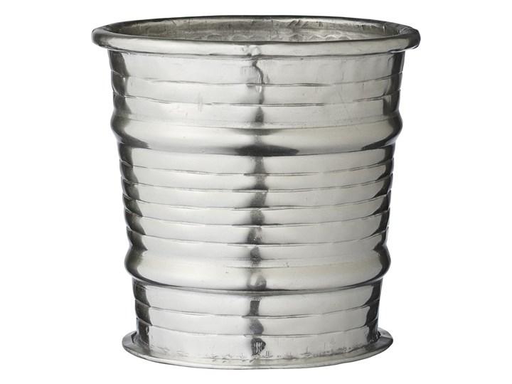 Aluminiowa donica Lene Bjerre LIANA srebrna
