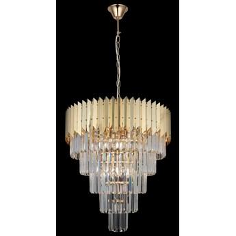 Ekskluzywny złoty kryształowy żyrandol 80321-03-P12-GD SESTINO  SALON SYPIALNIA JADALNIA HOTEL LUCEA