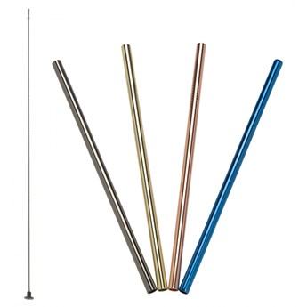 stalowe słomki do napojów, 4 szt., kolorowe, 21,5 cm kod: LU-00240991